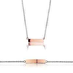 Sada ocelových šperků WS026RS (náhrdelník, náramek)
