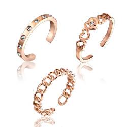 Stylová sada bronzových prstenů WS047R