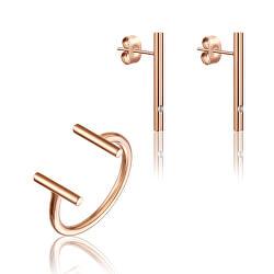 Stylová sada minimalistických šperků WS051R (náušnice, prsten)