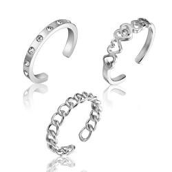 Stylová sada ocelových prstenů WS047S