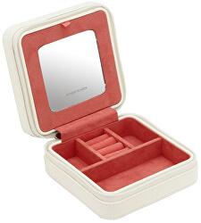 Cestovní šperkovnice bílá/červená Mandala 20131-1