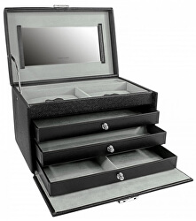 Šperkovnice černá/šedá Jolie 23256-21
