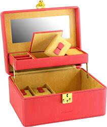 Šperkovnice červená/béžová Ascot 20124-4