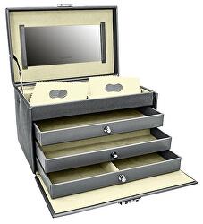 Šperkovnice šedá/smetanová Jolie 23256-91