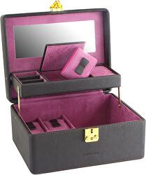 Šperkovnica čierna/fialová Ascot 20124-3