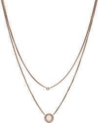 Dvojitý bronzový náhrdelník s kryštálmi JF03057791