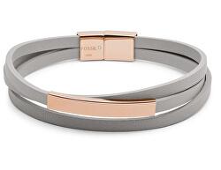 Elegantný kožený náramok Triple-Strand Grey JOF00514791