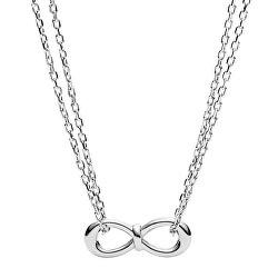 Oceľový náhrdelník nekonečno JF02866040
