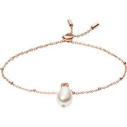 Okouzlující bronzový náramek s perlou Vintage Iconic JF03642791