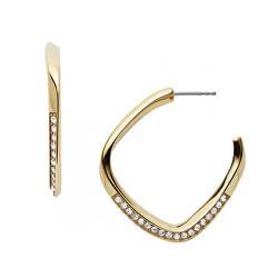Aranyozott acél fülbevalók kristályokkal JF03198710