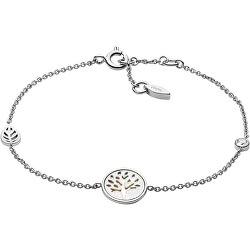 Půvabný stříbrný náramek s perletí Strom života JFS00508040