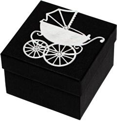 Luxusní dárková krabička se stříbrným kočárkem