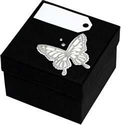 Luxusní dárková krabička se stříbrným motýlkem