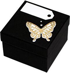 Luxusní dárková krabička se zlatým motýlkem