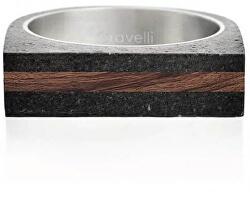 Betonový prsten antracitový Stamp Wood GJRUWOA004