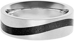Betonový prsten Curve ocelová/antracitová GJRWSSA113