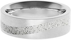 Betonový prsten Curve ocelová/šedá GJRWSSG113