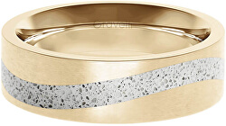 Betonový prsten Curve zlatá/šedá GJRWYGG113