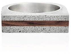 Betonový prsten šedý Stamp Wood GJRUWOG004