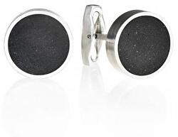 Manžetové knoflíčky z betonu a oceli Round GJCMSSA002UN
