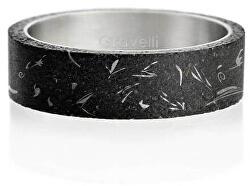 Moderní betonový prsten Simple Fragments Edition ocelová/antracitová GJRUFSA001