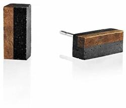Náušnice z betónu a dreva Block Wood GJEWWOA004UN