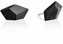 Náušnice z betonu Rock Fragments Edition měděná/antracitová GJEWFCA005UN