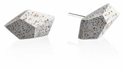 Náušnice z betonu Rock Fragments Edition měděná/šedá GJEWFCG005UN