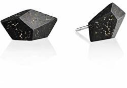 Náušnice z betonu Rock Fragments Edition zlatá/antracitová GJEWFBA005UN