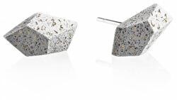 Náušnice z betonu Rock Fragments Edition zlatá/šedá GJEWFBG005UN