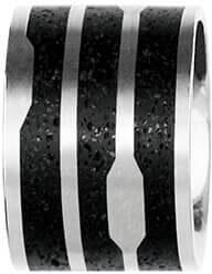 Ocelový přívěsek s betonem ocelová/antracitová Flow GJPWSSA104UN