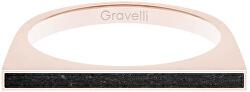 Ocelový prsten s betonem One Side bronzová/antracitová GJRWRGA121