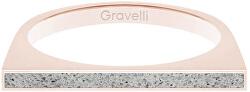 Ocelový prsten s betonem One Side bronzová/šedá GJRWRGG121