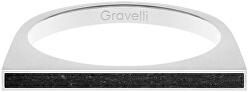 Ocelový prsten s betonem One Side ocelová/antracitová GJRWSSA121