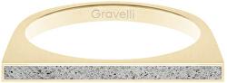 Ocelový prsten s betonem One Side zlatá/šedá GJRWYGG121