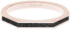 Ocelový prsten s betonem Three Side bronzová/antracitová GJRWRGA123