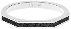 Ocelový prsten s betonem Three Side ocelová/antracitová GJRWSSA123