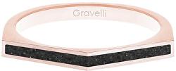 Ocelový prsten s betonem Two Side bronzová/antracitová GJRWRGA122