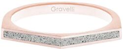 Ocelový prsten s betonem Two Side bronzová/šedá GJRWRGG122
