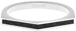 Ocelový prsten s betonem Two Side ocelová/antracitová GJRWSSA122