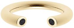 Otevřený prsten s betonem Open zlatá/antracitová GJRWYGA107