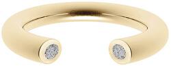 Otevřený prsten s betonem Open zlatá/šedá GJRWYGG107