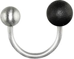 Otevřený prsten z oceli s betonovou kuličkou Twins GJRUSSA007UN