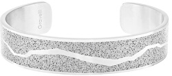 Pevný oceľový náramok s betónom Split oceľová / sivá GJBWSSG102UN