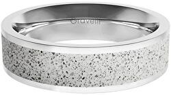 Prsteň s betónom Fusion Bold oceľová / sivá GJRWSSG111