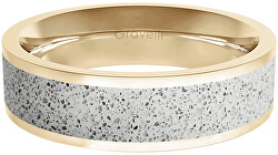 Prsten s betonem Fusion Bold zlatá/šedá GJRWYGG111