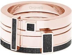 Sada čtyř prstenů s betonem Quadrium bronzová/antracitová GJRWRGA124