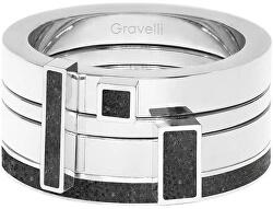 Sada čtyř prstenů s betonem Quadrium ocelová/antracitová GJRWSSA124