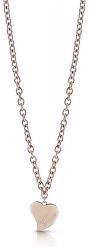 Bronzový náhrdelník s velkým srdcem UBN28061