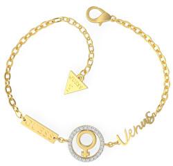 Designový pozlacený náramek s krystaly Venuše UBS29025